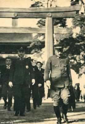 神社(昭和17年)▷明治神宮への陸海軍大臣の参拝   ジャパン ...